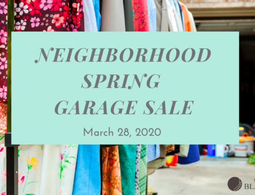 CANCELLED DUE TO COVID-19: Neighborhood Garage Sale – March 28, 2020