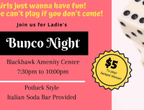 Ladies Bunco Night – April 12