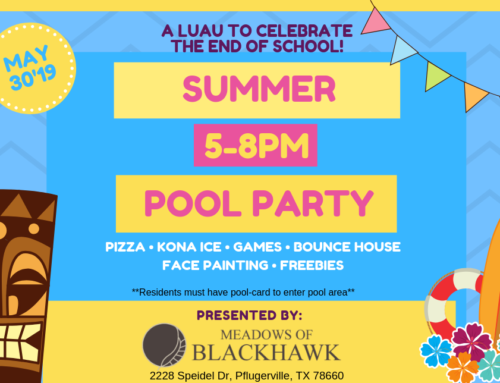Summer Kick-Off Luau and Pool Party – May 30