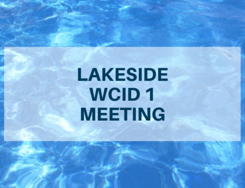 LAKESIDE WCID Meeting – July 9