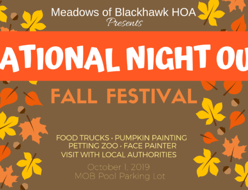 Neighborhood Fall Festival & National Night Out – Oct 1